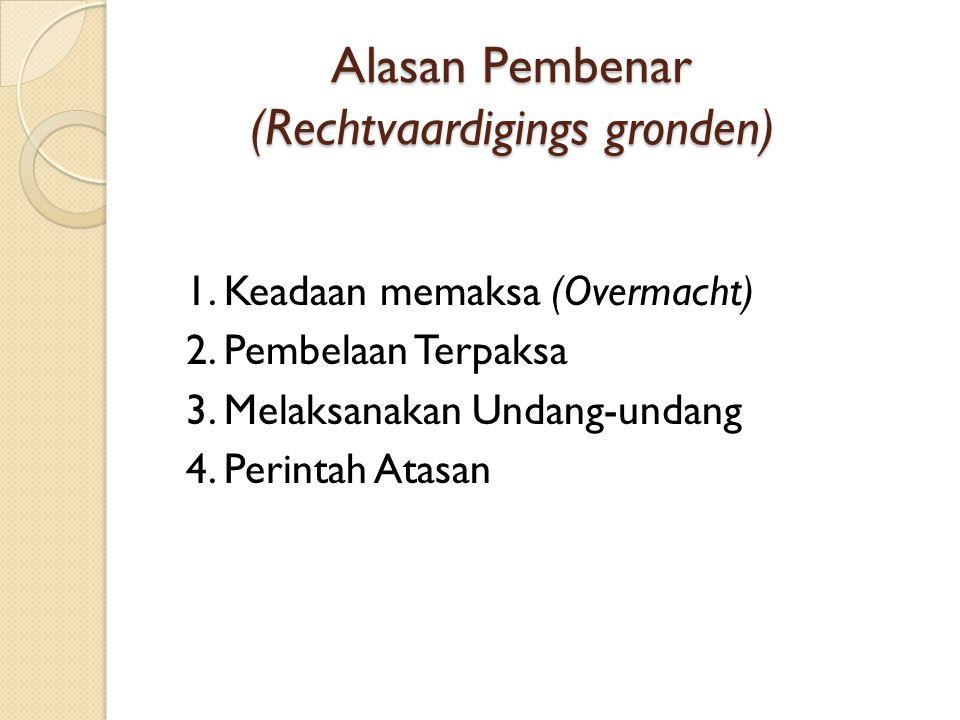 Alasan Pembenar (Rechtvaardigings gronden)