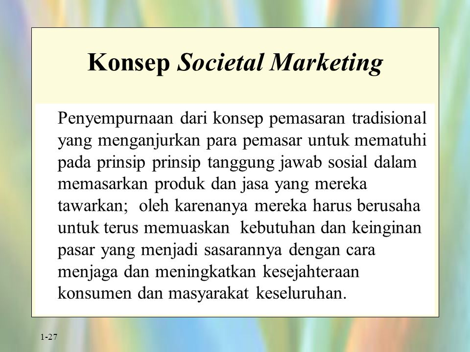 Konsep Societal Marketing