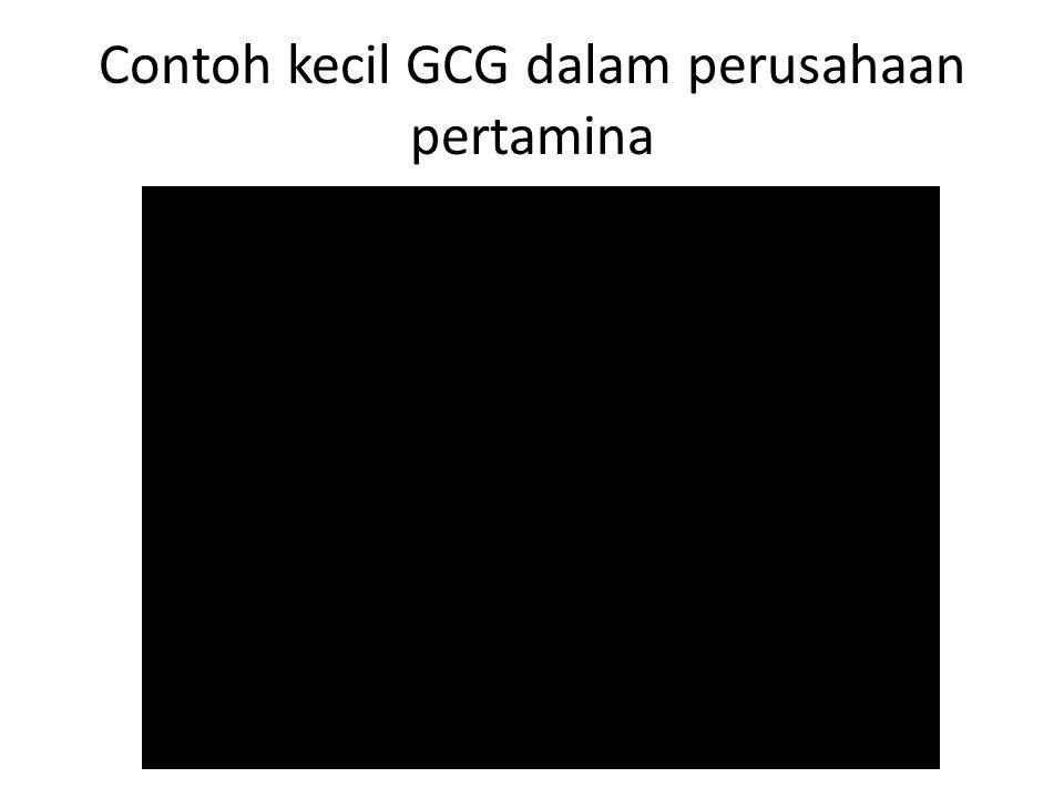 Contoh kecil GCG dalam perusahaan pertamina