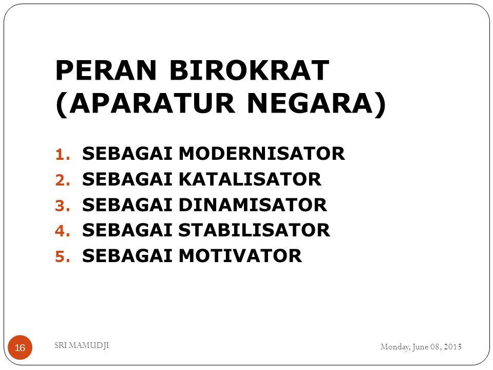 PERAN BIROKRAT (APARATUR NEGARA)