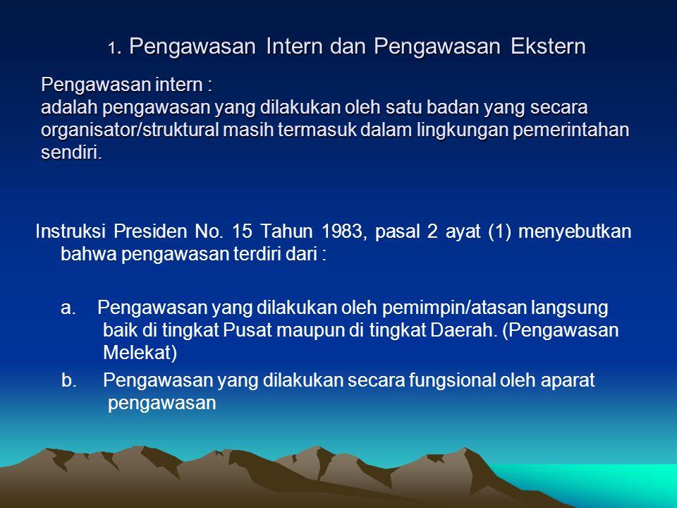 1. Pengawasan Intern dan Pengawasan Ekstern