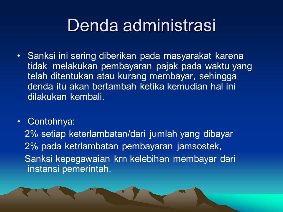 Denda administrasi