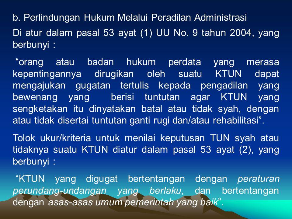 Perlindungan Hukum Melalui Peradilan Administrasi