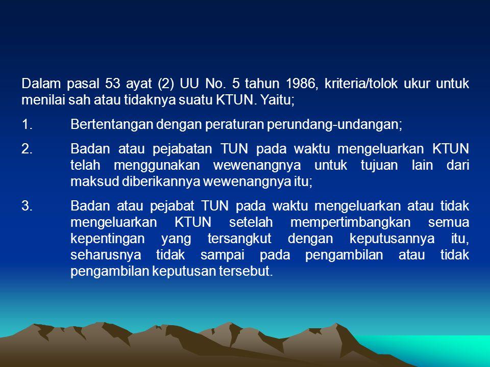 Dalam pasal 53 ayat (2) UU No