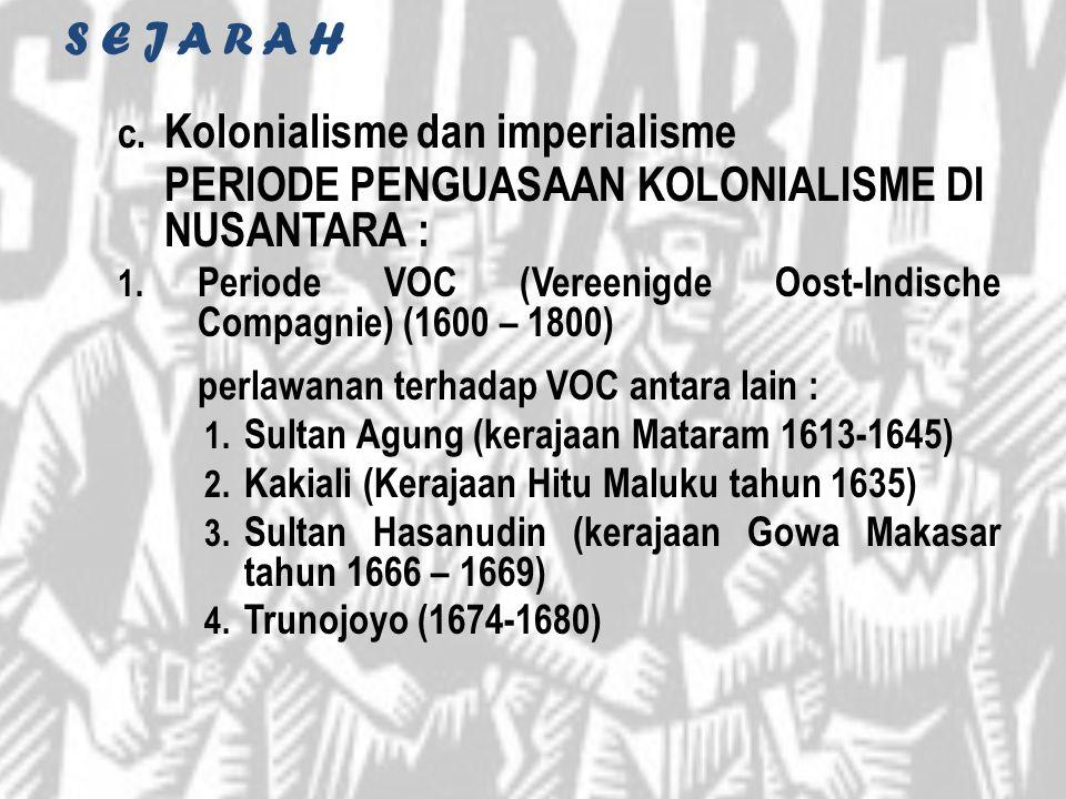 Kolonialisme dan imperialisme