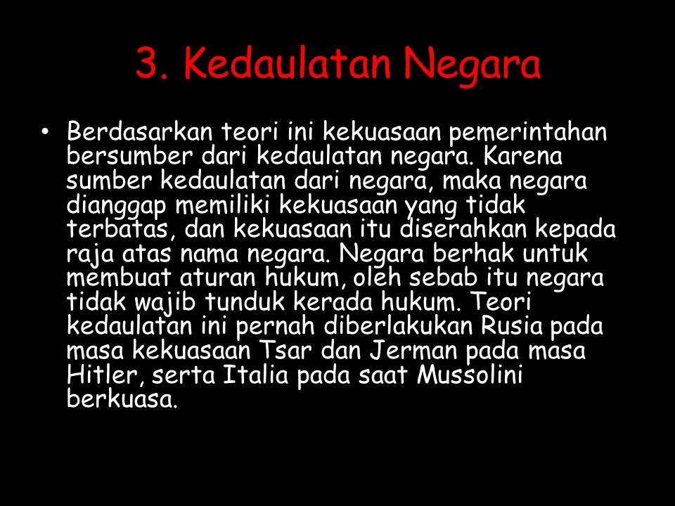 3. Kedaulatan Negara
