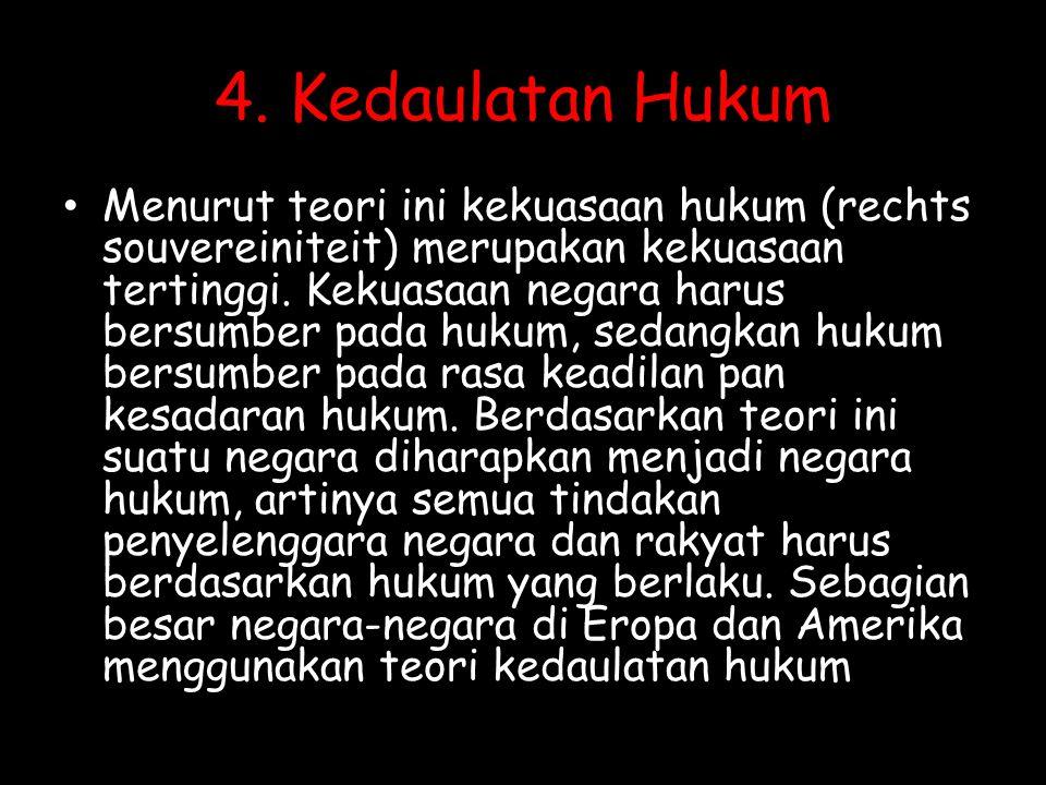 4. Kedaulatan Hukum