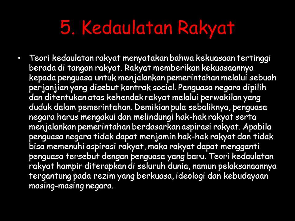 5. Kedaulatan Rakyat