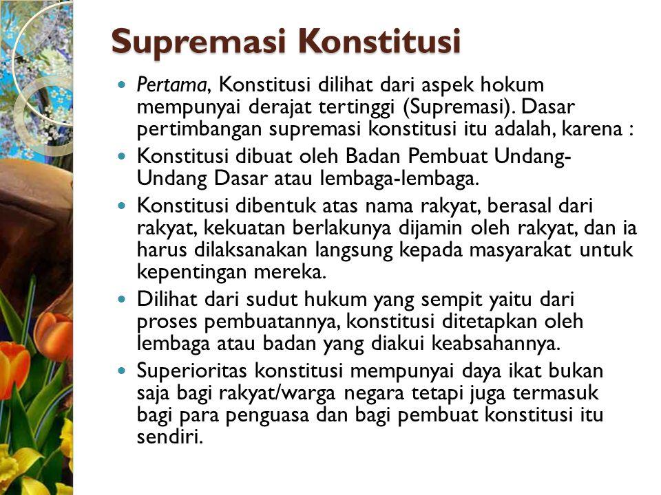 Supremasi Konstitusi