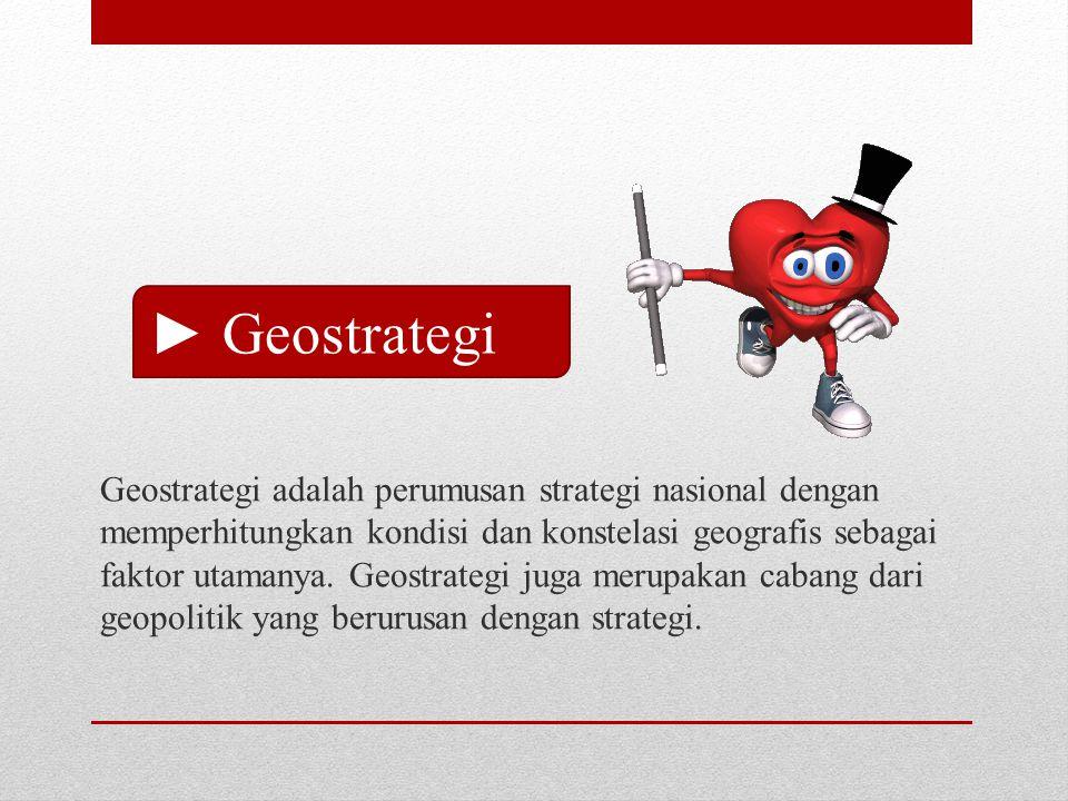 ► Geostrategi