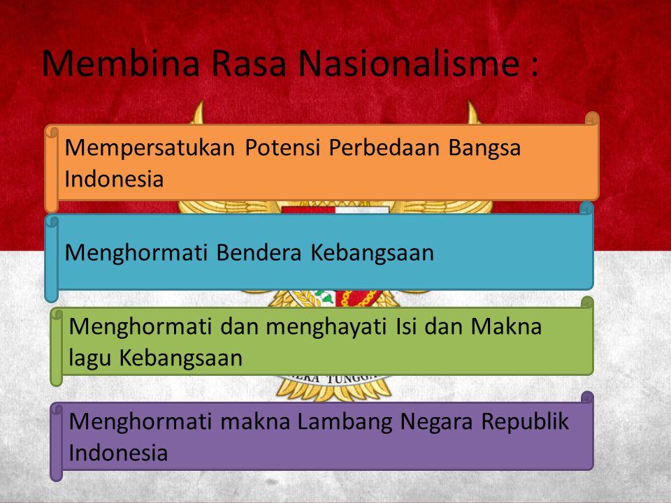 Membina Rasa Nasionalisme :