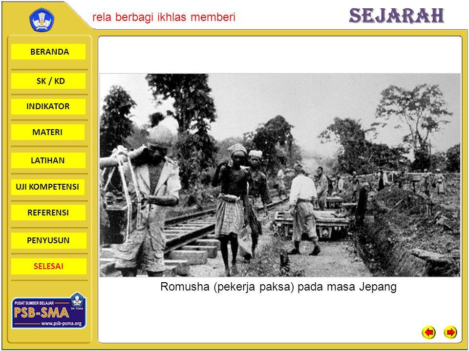 Romusha (pekerja paksa) pada masa Jepang