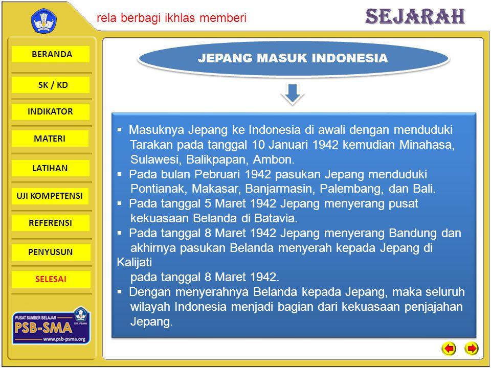 JEPANG MASUK INDONESIA