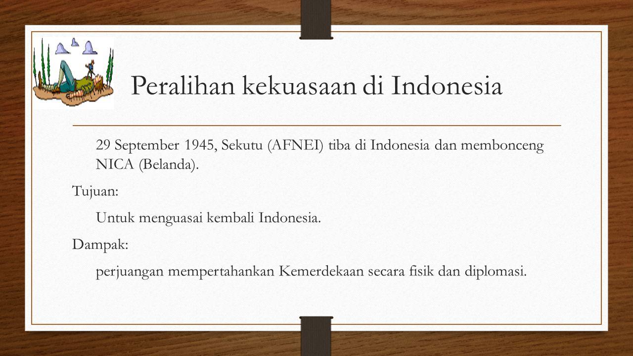 Peralihan kekuasaan di Indonesia