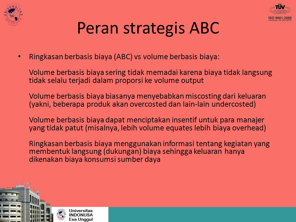 Peran strategis ABC