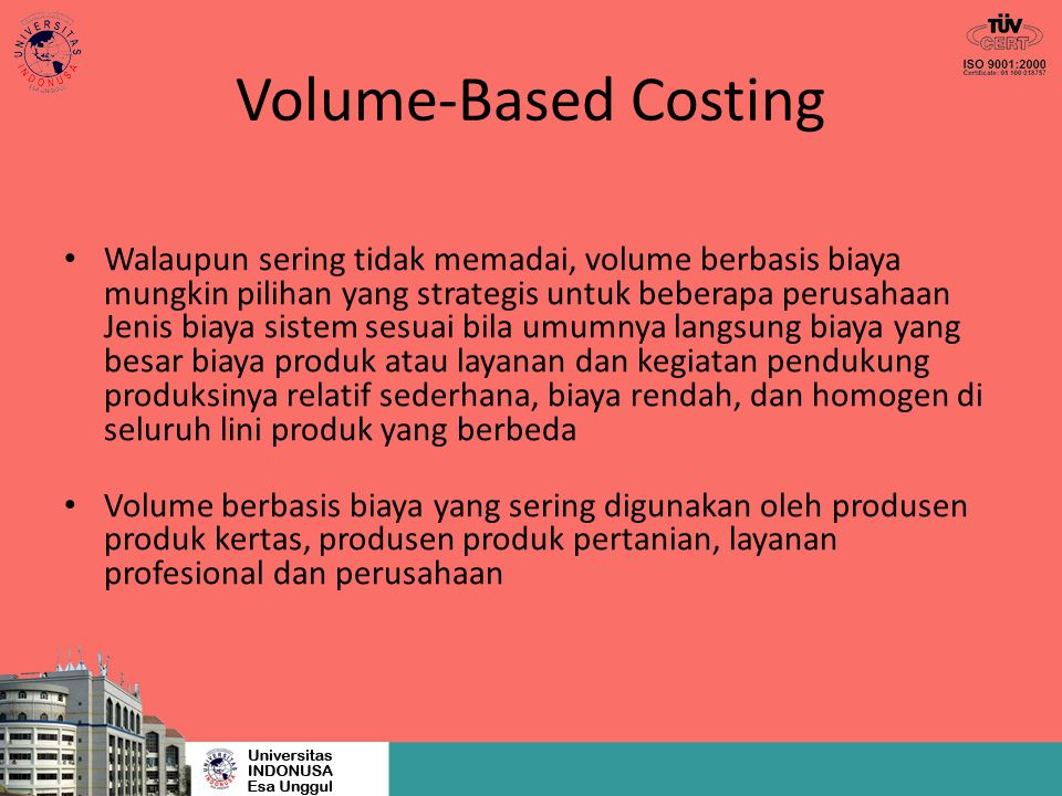 Volume-Based Costing