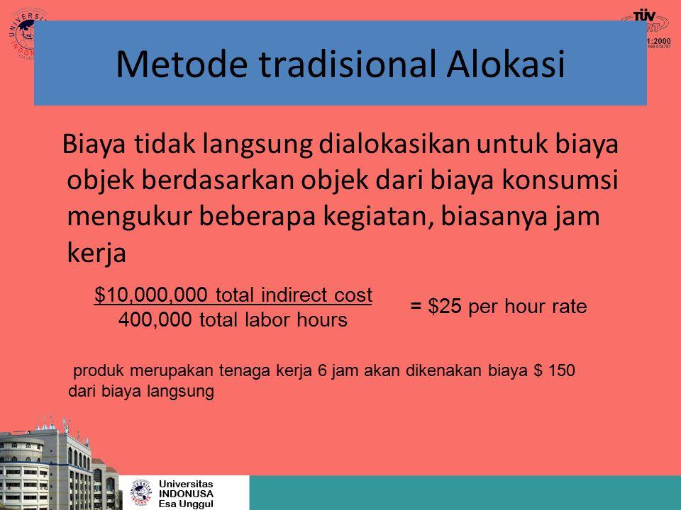 Metode tradisional Alokasi
