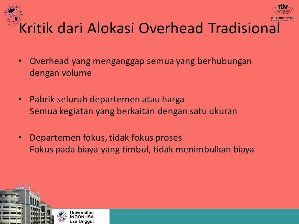 Kritik dari Alokasi Overhead Tradisional