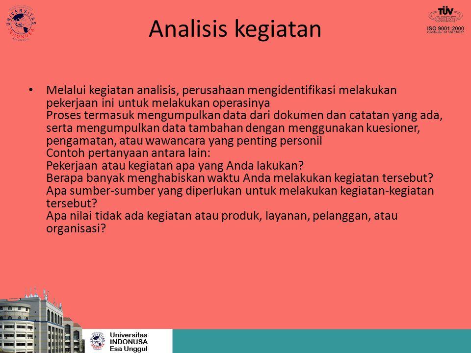 Analisis kegiatan