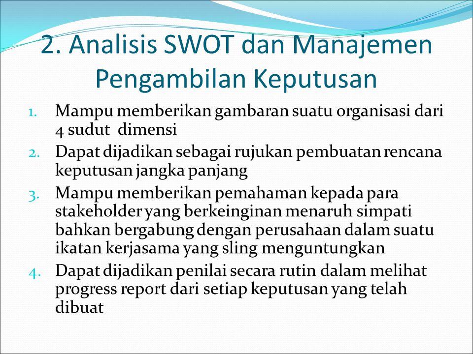 2. Analisis SWOT dan Manajemen Pengambilan Keputusan