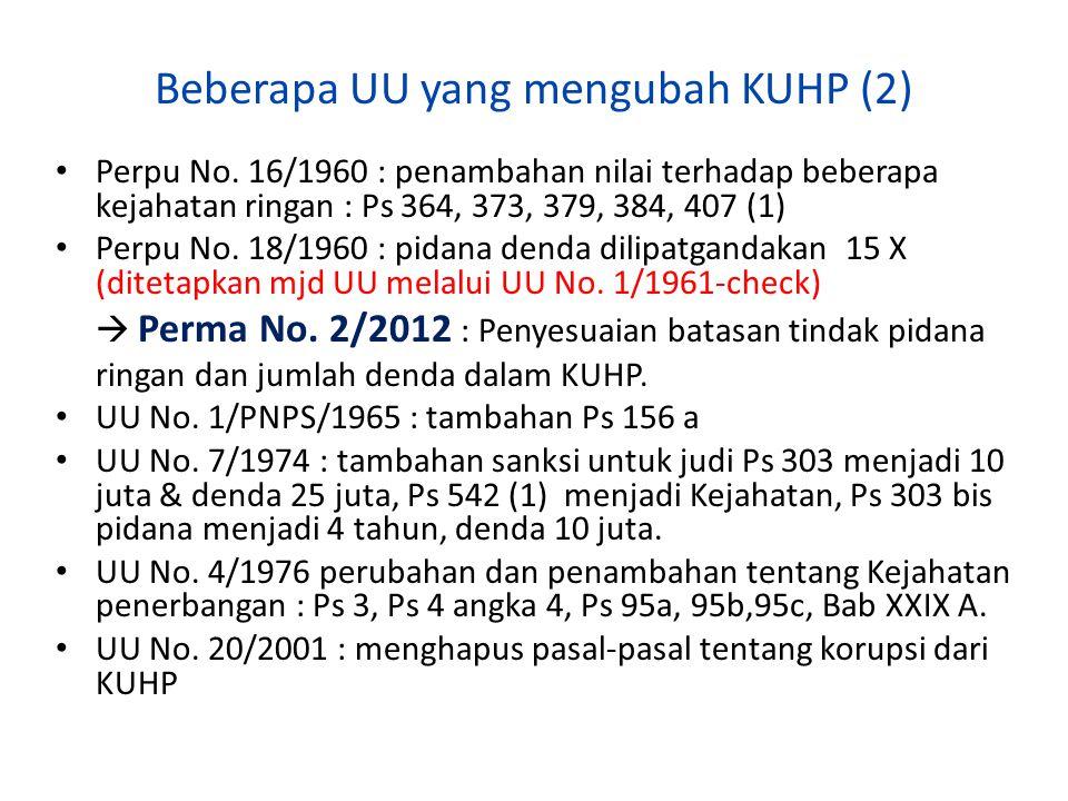 Beberapa UU yang mengubah KUHP (2)