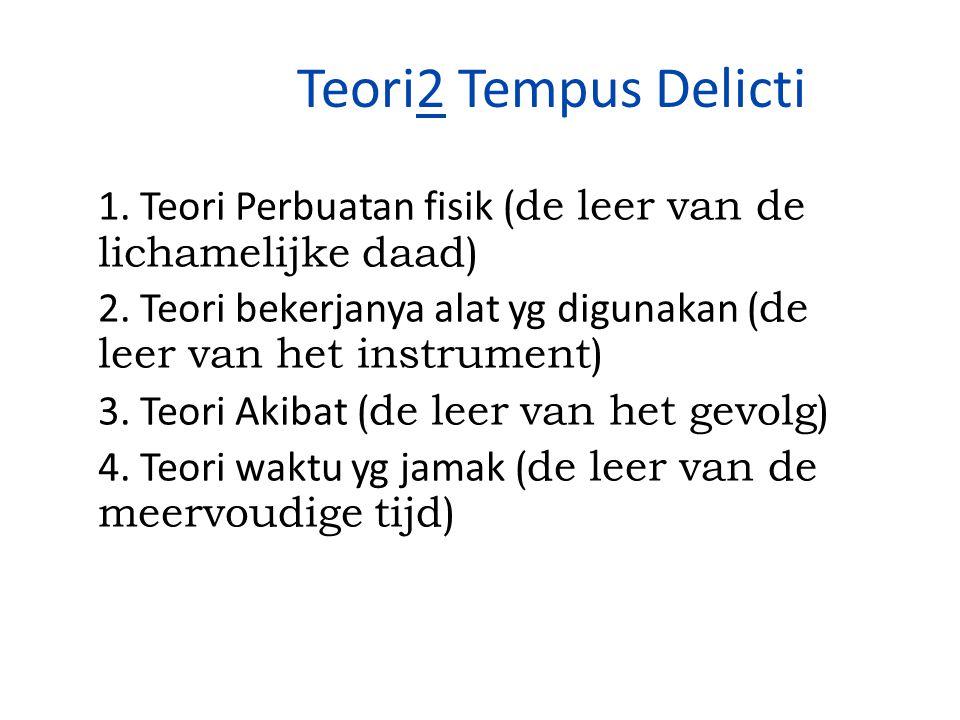 Teori2 Tempus Delicti