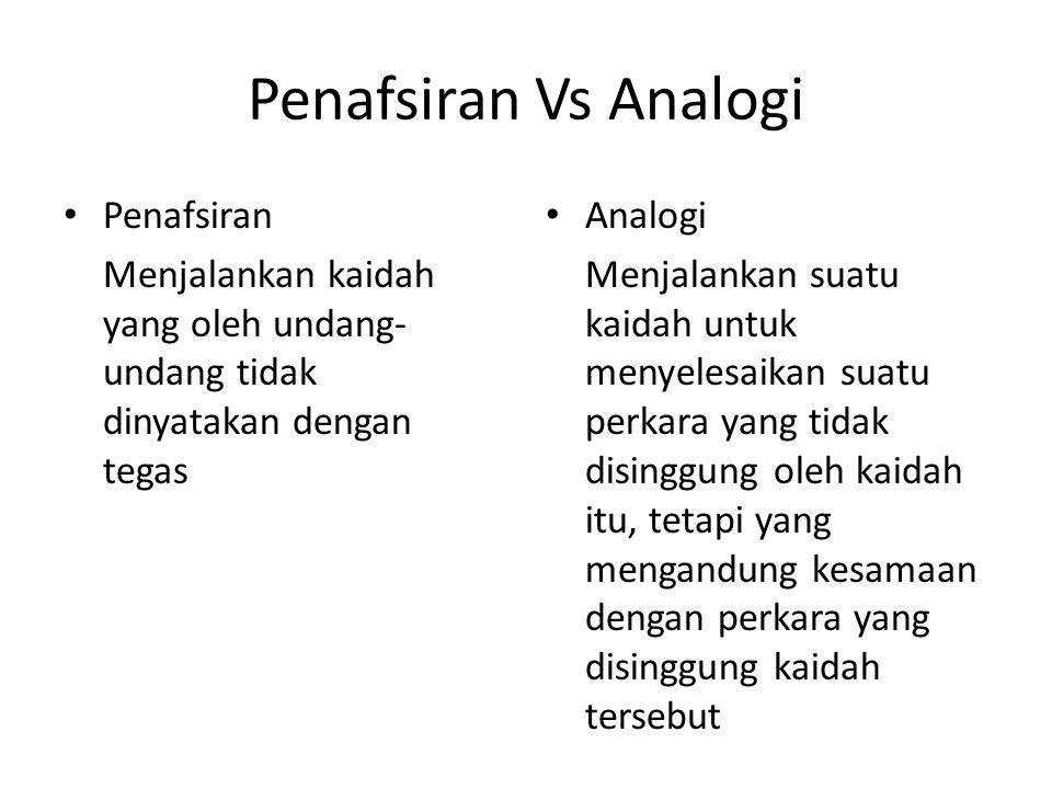 Penafsiran Vs Analogi Penafsiran