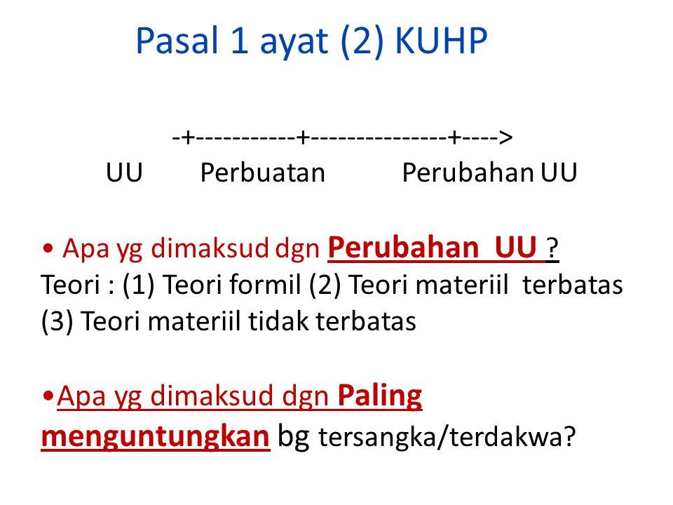 Pasal 1 ayat (2) KUHP -+-----------+---------------+----> UU Perbuatan Perubahan UU. Apa yg dimaksud dgn Perubahan UU