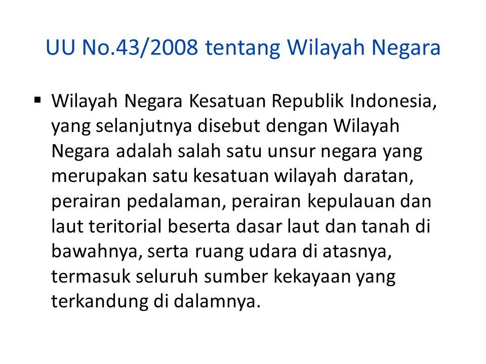 UU No.43/2008 tentang Wilayah Negara