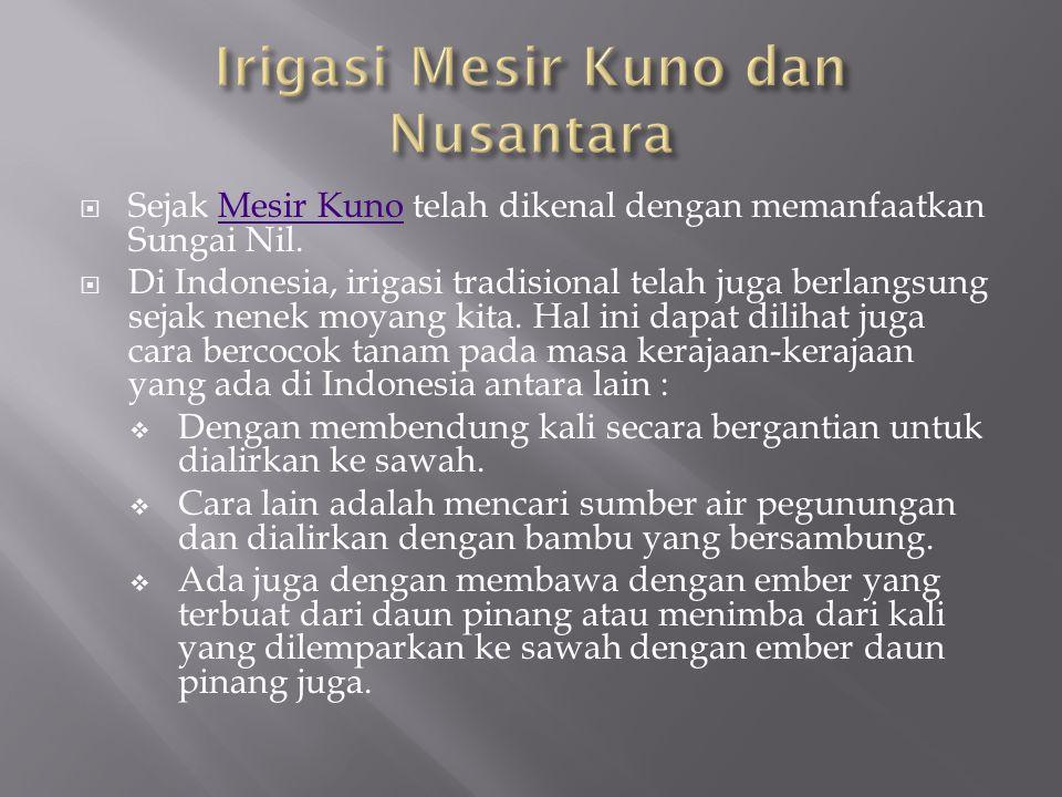 Irigasi Mesir Kuno dan Nusantara