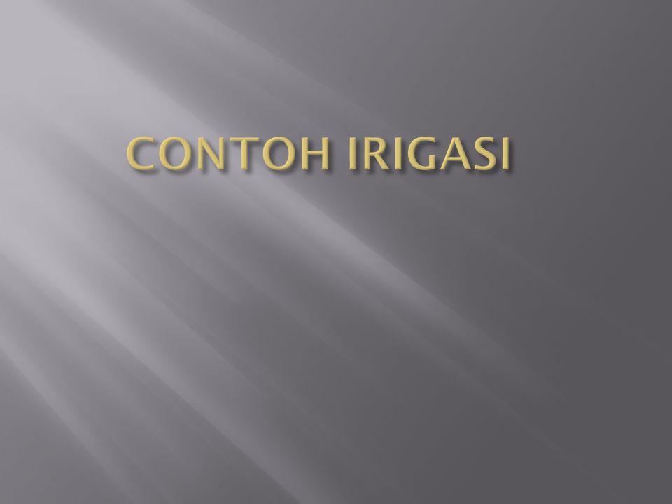 CONTOH IRIGASI
