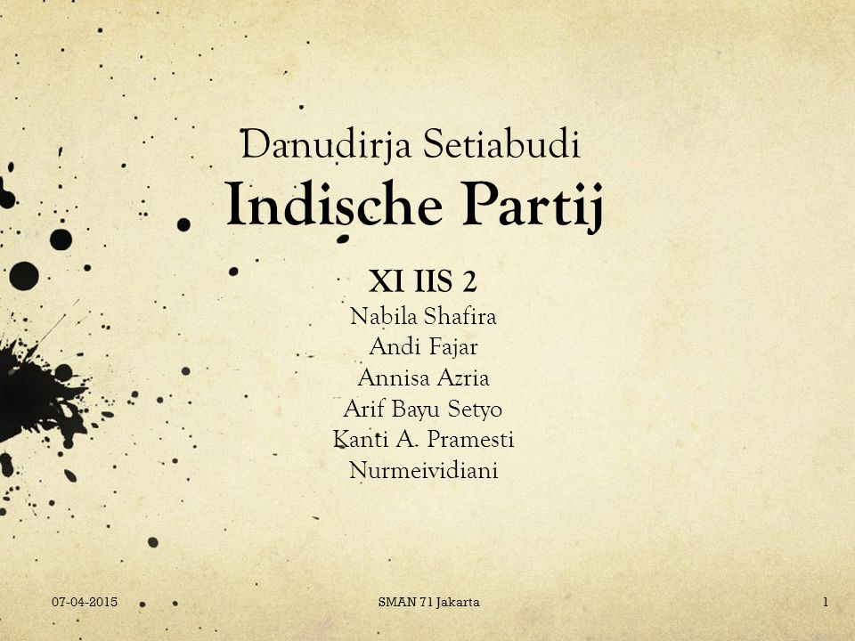 Indische Partij Danudirja Setiabudi XI IIS 2 Nabila Shafira Andi Fajar