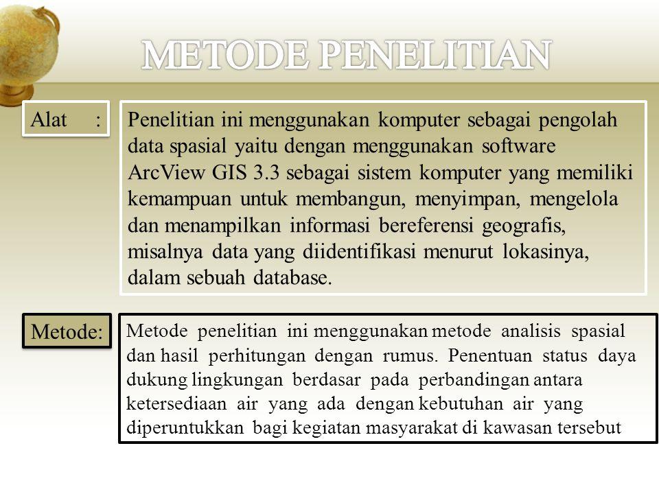 METODE PENELITIAN Alat :