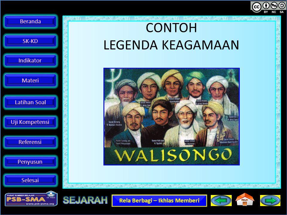 CONTOH LEGENDA KEAGAMAAN
