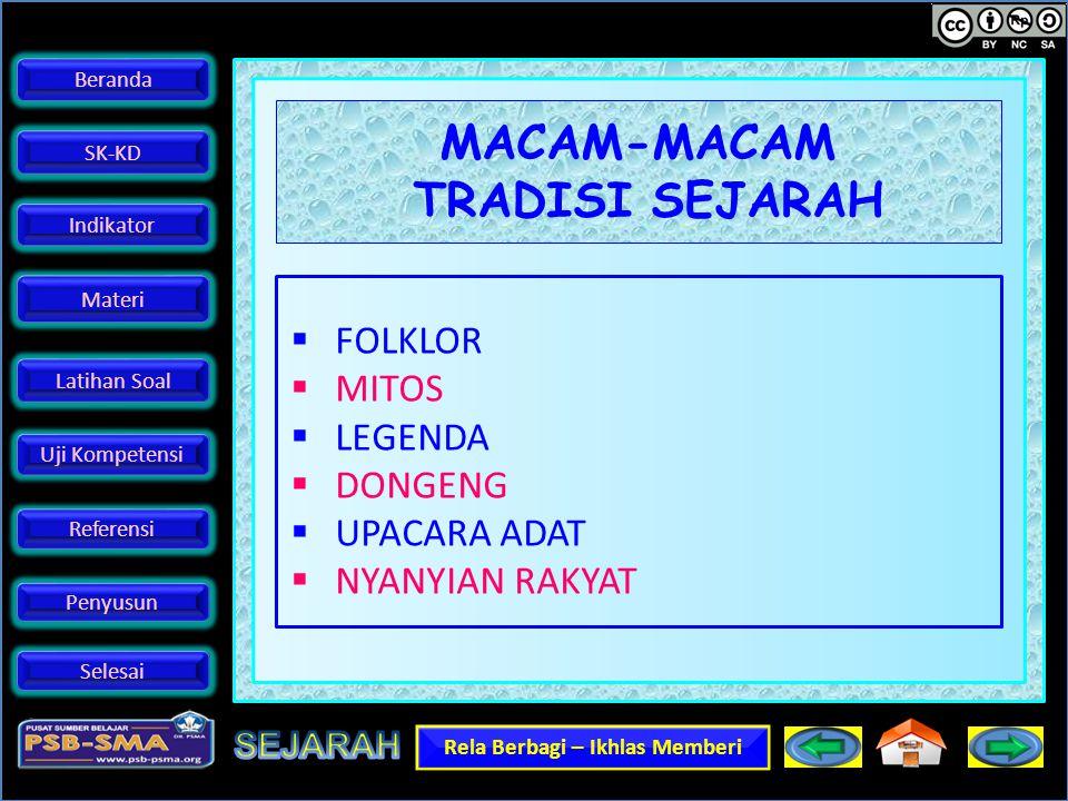MACAM-MACAM TRADISI SEJARAH