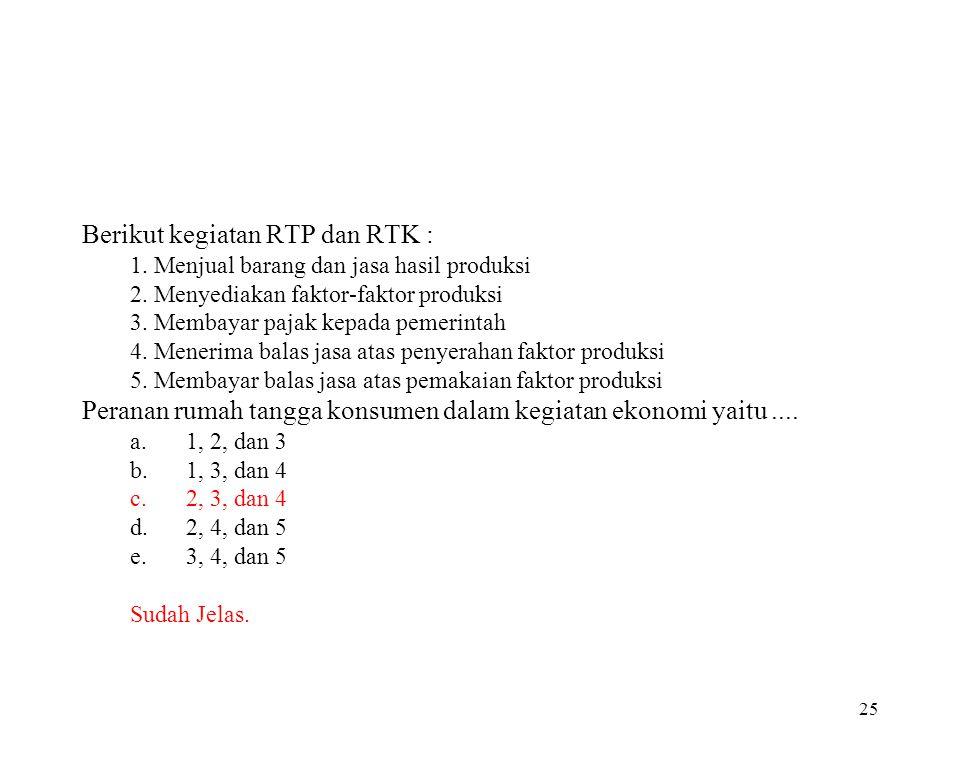Berikut kegiatan RTP dan RTK :