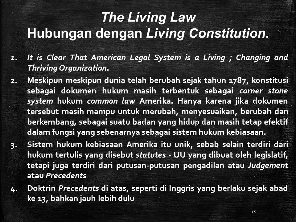 Hubungan dengan Living Constitution.