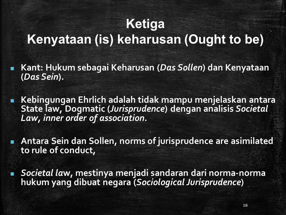 Kenyataan (is) keharusan (Ought to be)