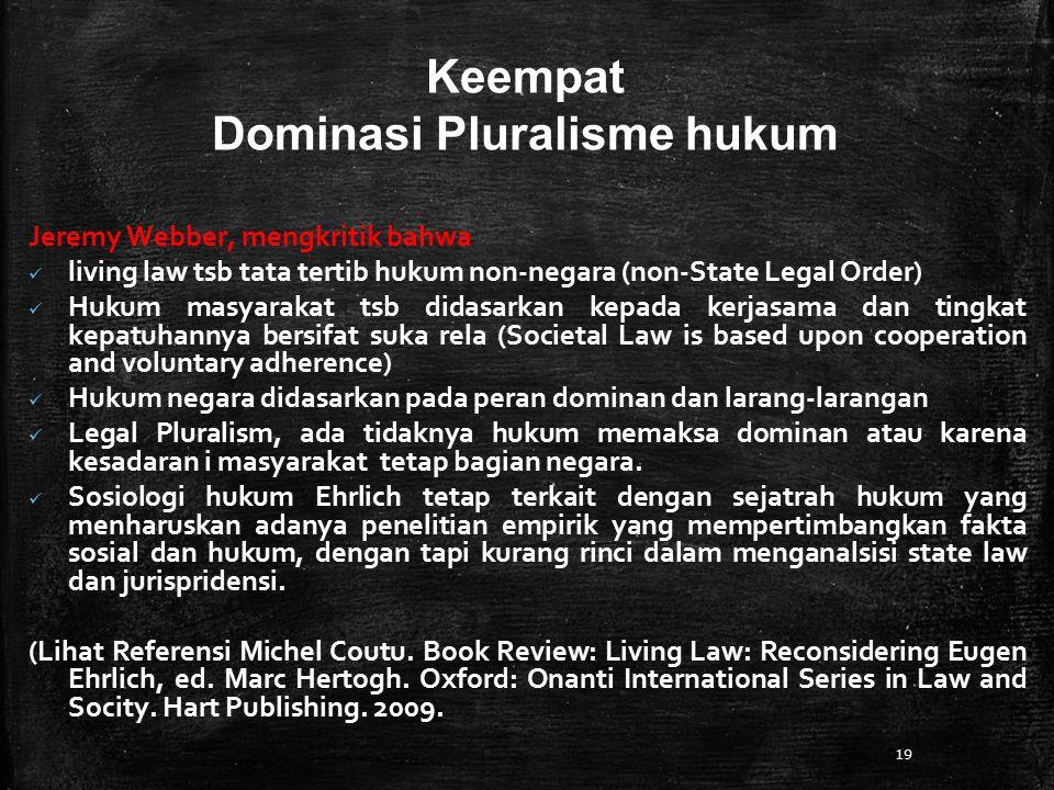 Dominasi Pluralisme hukum