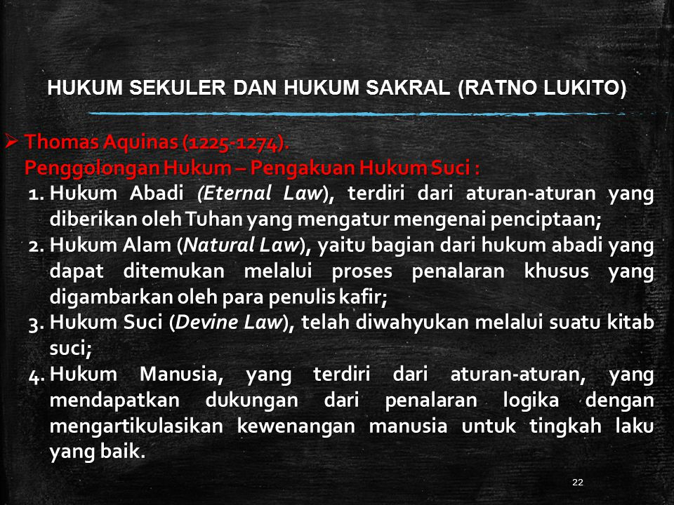 HUKUM SEKULER DAN HUKUM SAKRAL (RATNO LUKITO)