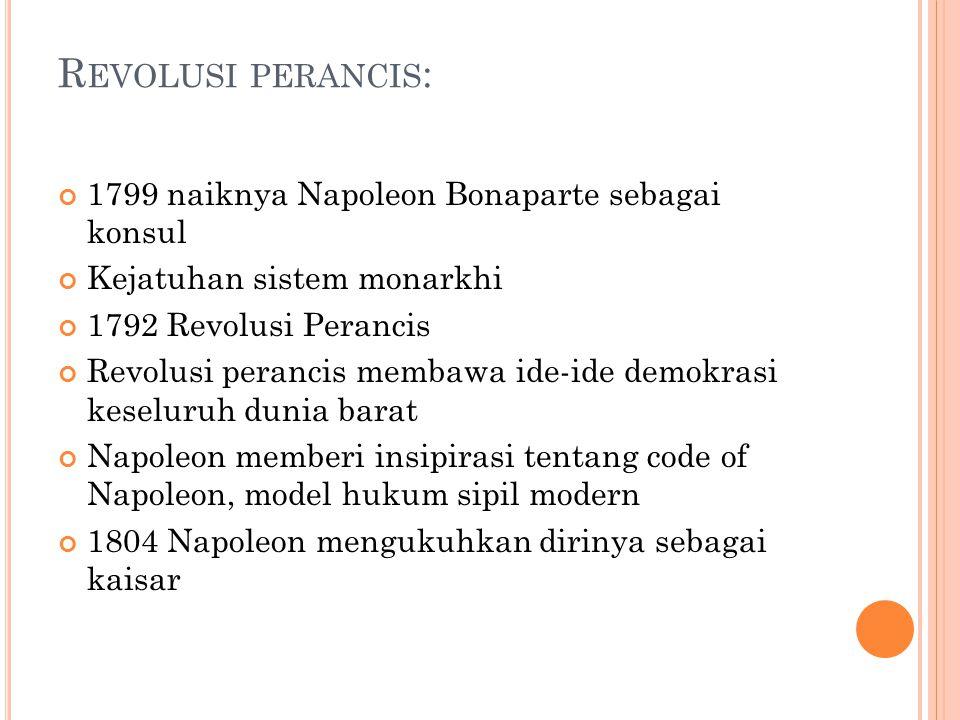 Revolusi perancis: 1799 naiknya Napoleon Bonaparte sebagai konsul