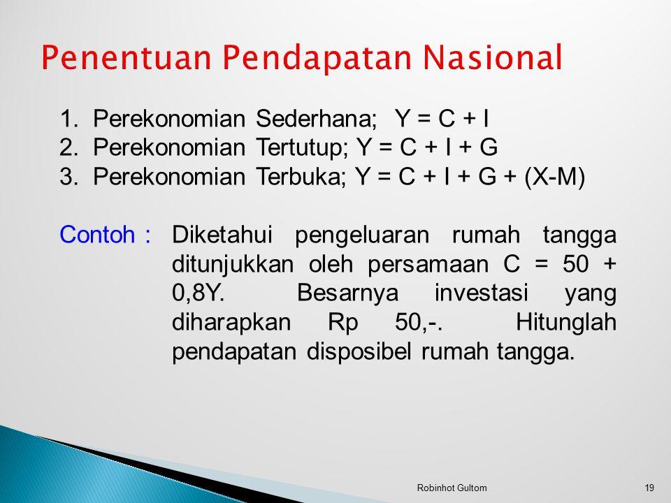 Penentuan Pendapatan Nasional