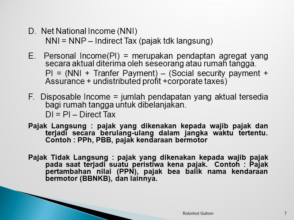 D. Net National Income (NNI)