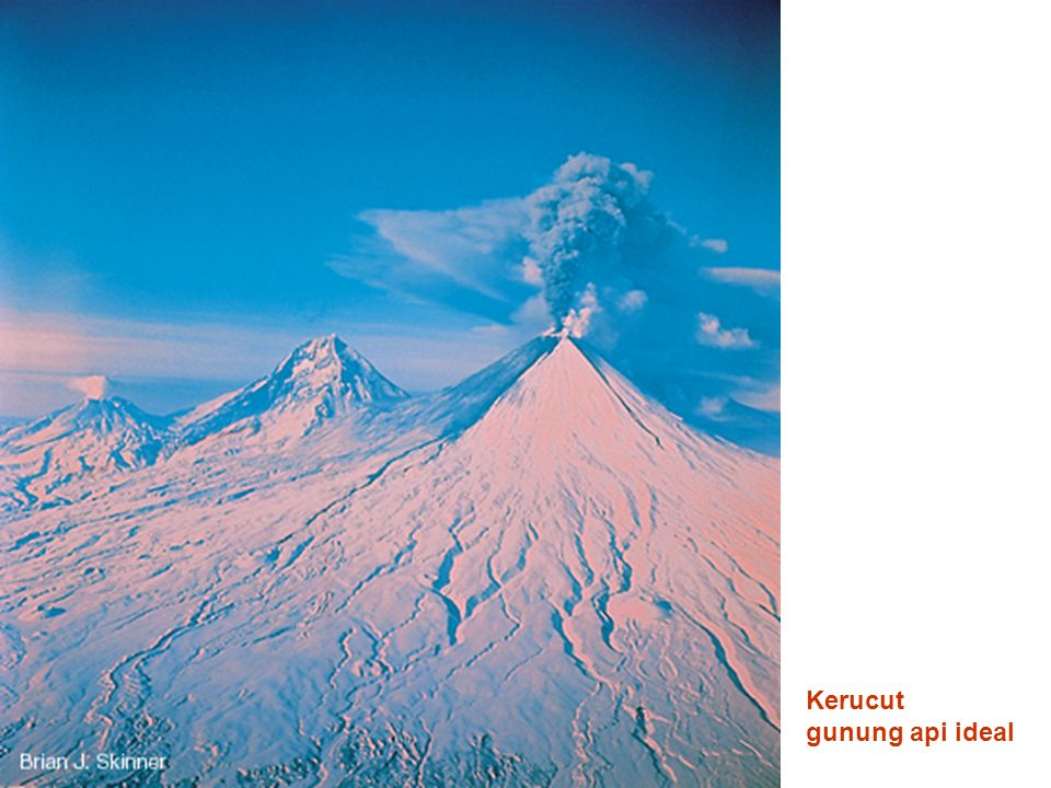 Kerucut gunung api ideal