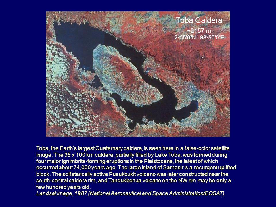 Toba Caldera +2157 m 2o35'0 N - 98o50'0 E