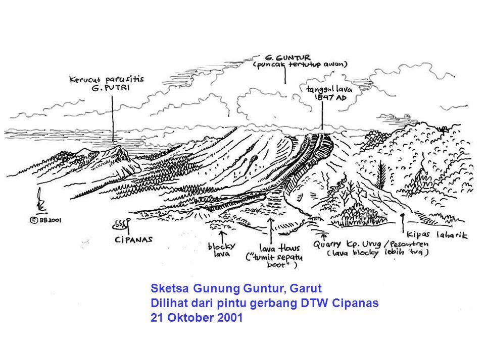 Sketsa Gunung Guntur, Garut