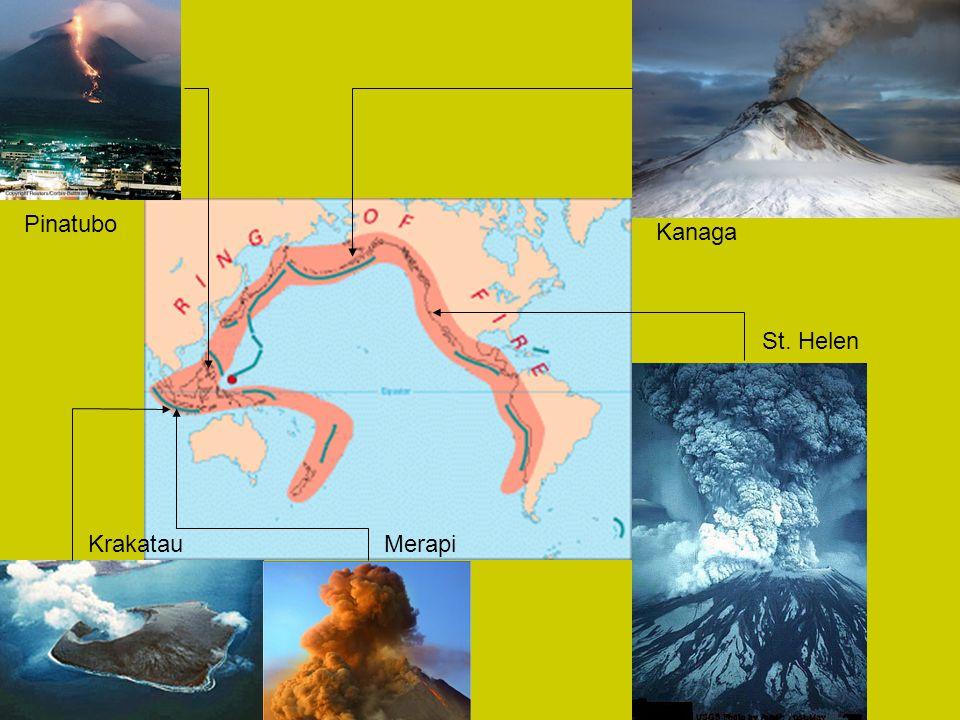 Pinatubo Kanaga St. Helen Krakatau Merapi