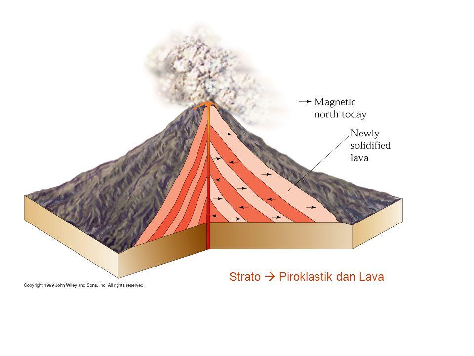 Strato  Piroklastik dan Lava