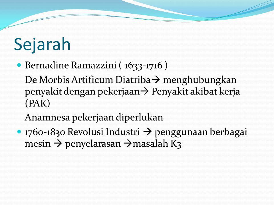 Sejarah Bernadine Ramazzini ( 1633-1716 )