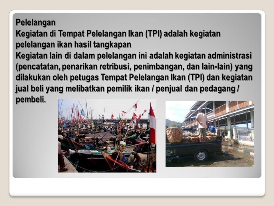 Pelelangan Kegiatan di Tempat Pelelangan Ikan (TPI) adalah kegiatan pelelangan ikan hasil tangkapan.